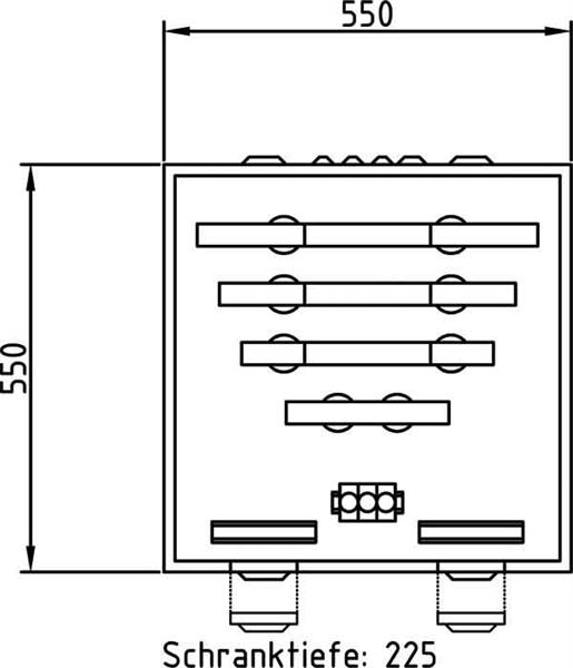 Deppe&Co. Wandlerschrank 550x550x225mm E550/550 D1-W AVACON