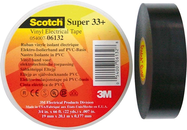 3M Elektro-Isolierband 19mm x33m sw ScotchSuper33+ 19x33