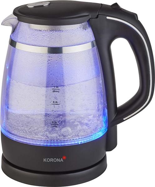 KORONA Glas-Wasserkocher bel. 1L,1600W 20610 sw