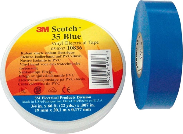 3M Elektro-Isolierband 19mm x 20m bl Scotch 35 19x20 bl