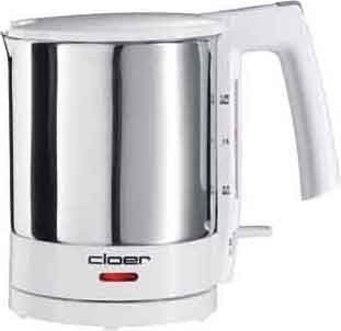 Cloer Wasserkocher 1,5 L Wasserstandsanz. 4711 edelstahl-weiß
