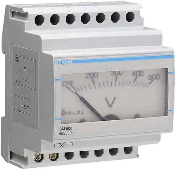Hager Ampermeter für Direktmess. analog 0-15A SM015