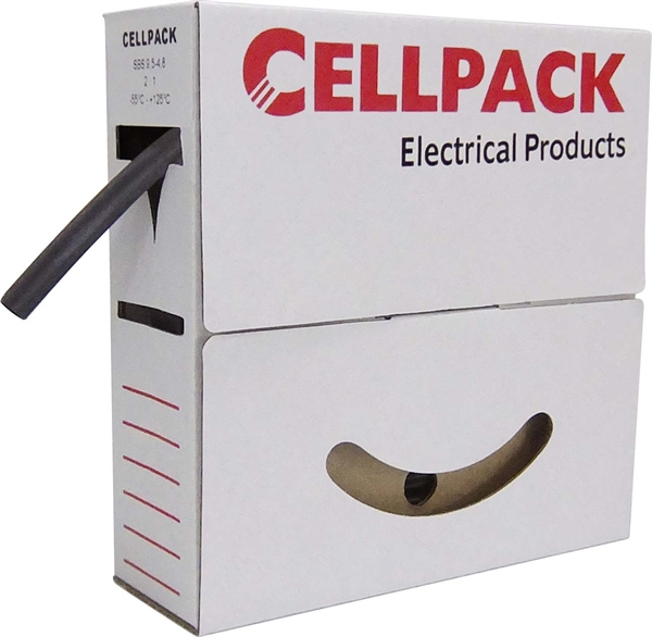 Cellpack Schrumpfschlauch in Abrollbox 5m SBS 9.5-4.8 sw