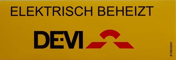 DEVI Kennzeichnungsaufkleber -Elektrisch beheizt- 19-805845